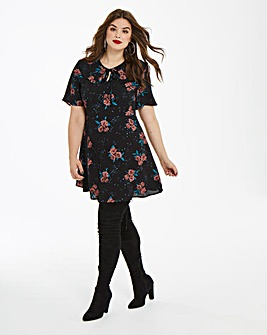 Fashion Union Oriental Floral Tea Dress
