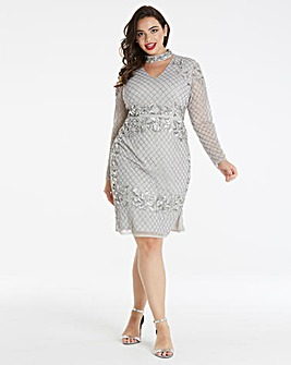 Maya Curve Embellished Midi Dress