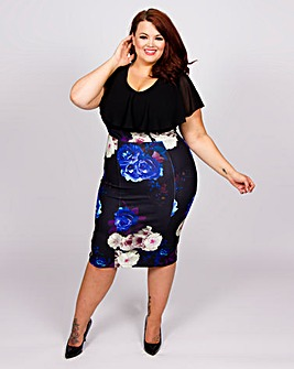 Scarlett & Jo 2in1 Pencil Dress