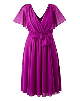 Scarlett & Jo Flutter Sleeve Dress