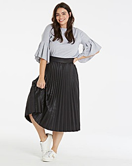 Lost Ink Pleated Skirt