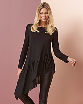 Eden Rock Asymmetric Jersey Top