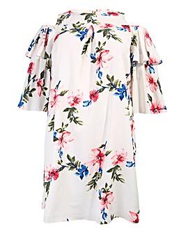 Lovedrobe Ruffle Sleeve Swing Dress