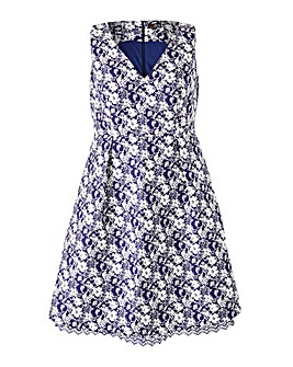 Lovedrobe Jacquard Lace Trim Dress