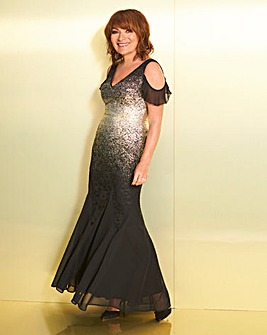 Lorraine Kelly Gold Fishtail Dress