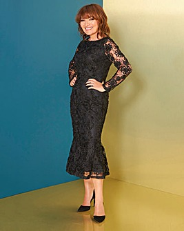 Lorraine Kelly Peplim Cornelli Dress