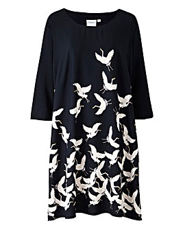Junarose Bird Print Dress