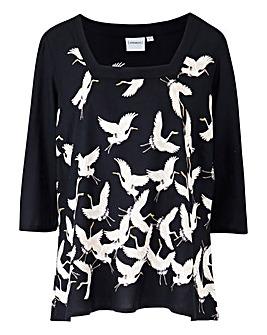 Junarose Bird Print Blouse