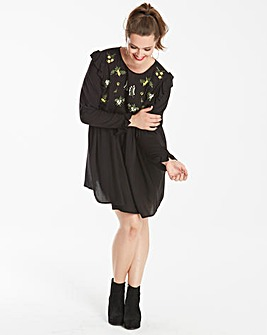 AX Paris Curve Embroidered Smock Dress