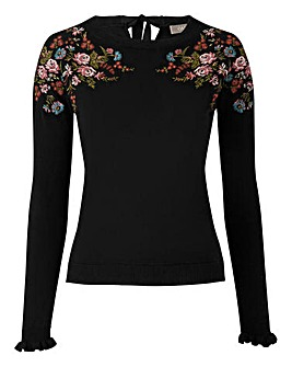 Oasis Curve Esther Embroidered Knit