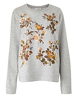Oasis Curve Rosetti Marl Sweat Top