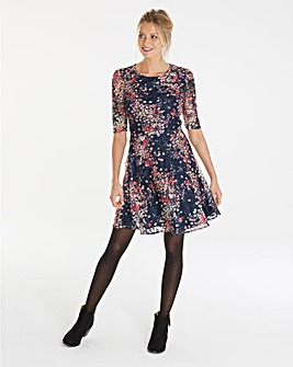 Oasis Curve Printed Lace Dress