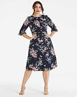 Oasis Kimono Sleeve Midi Dress