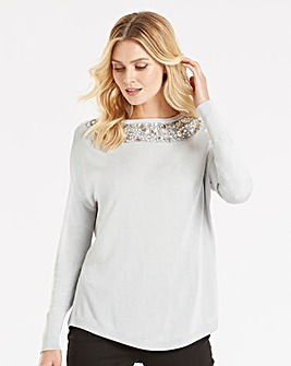 Oasis Curve Jewelled Knit