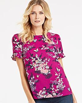 Oasis Kimono Pleat Sleeve T-Shirt