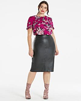 Oasis Curve Kimono Pleat Sleeve T-Shirt