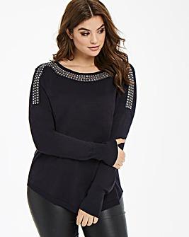 Oasis Curve Embellished Knit
