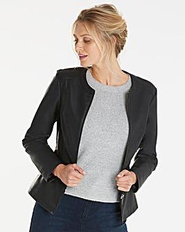 Oasis Curve Faux Leather Jacket