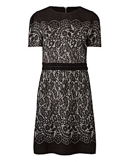 Oasis Lace Jacquard Shift Dress