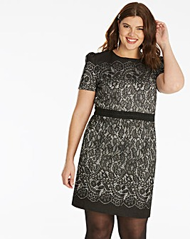 Oasis Lace Jacquard Shift Dress