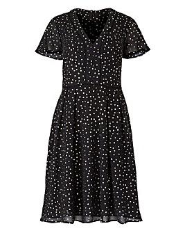 Oasis Curve Glitter Angel Sleeve Dress