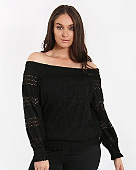 Lovedrobe Bardot Gypsy Top
