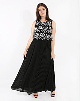 Lovedrobe Lace Overlay Maxi Dress
