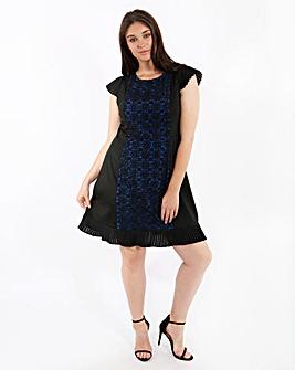 Lovedrobe Lace Pleat Detail Dress