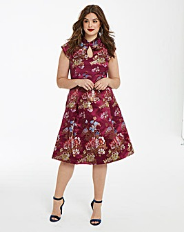Glamorous Curve Oriental Fit & Flare