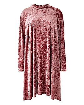 Glamorous Curve Velour Swing Dress