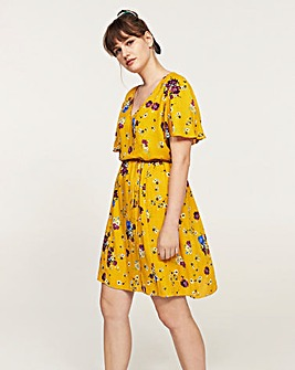 Violeta by Mango Floral Tea Dress