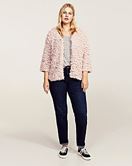 Violeta by Mango Textured Shaggy Cardi