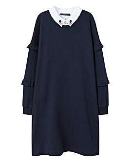 Violeta by Mango Beaded Collar Dress