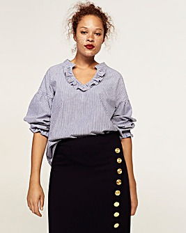 Violeta by Mango Button Detail Skirt