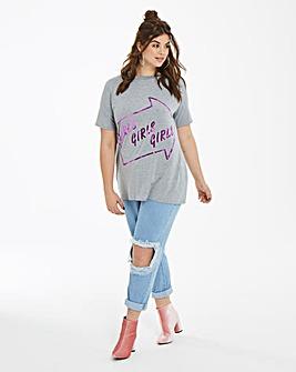 Daisy Street Mesh Knee Boyfriend Jeans