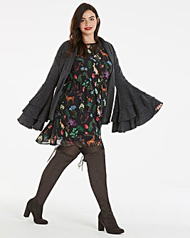 Unique 21 Dramatic Bell Sleeve Cardigan