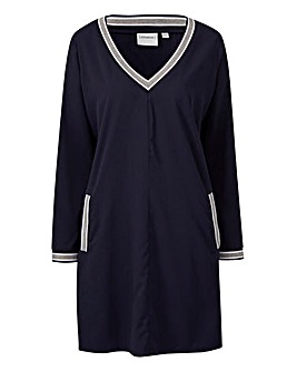 Junarose Contrast Stripe Sports Dress