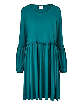 Junarose Frilled Waist Skater Dress