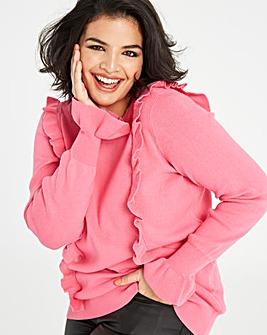 Junarose Frill Knit Pullover