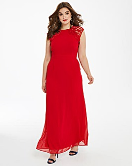 Elise Ryan Lace Open Back Dress