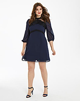 Elise Ryan Spot Mesh Dress