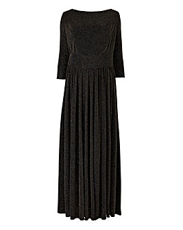 Scarlett & Jo Lurex Scoop Neck Gown