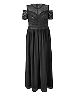 Lovedrobe Lace Panel Maxi Dress