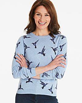 Oasis Illustrator Bird Print Knit