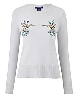 Oasis Illustrator Kissing Bird Knit