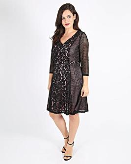 Lovedrobe Panelled Lace Dress