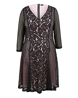 Lovedrobe Panelled Lace Dress