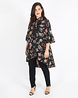 Lovedrobe Printed Pleat Back Blouse