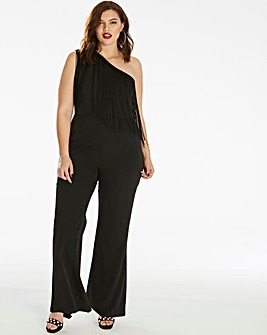 Unique 21 Asymmetric Fringe Jumpsuit