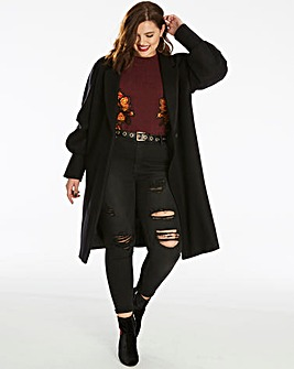 Unique 21 Balloon Sleeve Coat